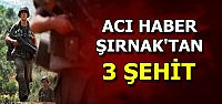 ŞIRNAK'TA İÇİMİZ YANDI: 3 ŞEHİT...