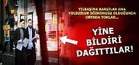 'YILBAŞI' BİLDİRİSİ DAĞITTILAR...