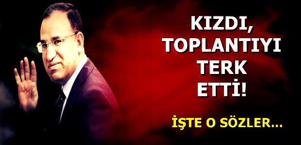TOPLANTIYI TERK ETTİ!
