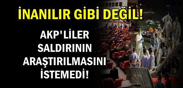 ÜÇ PARTİNİN TEKLİFİNİ AKP REDDETTİ...