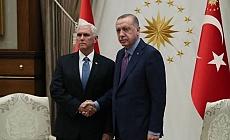 Erdoğan ve Pence görüşmesi sona erdi