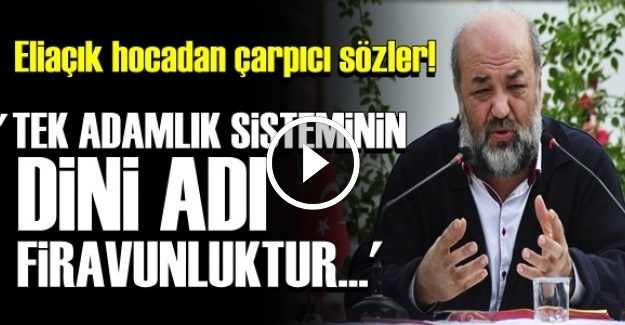 'TEK ADAMLIĞIN DİNİ ADI; FİRAVUNLUKTUR'
