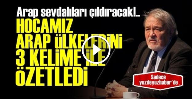 ARAP ÜLKELERİNİ 3 KELİME İLE ÖZETLEDİ!..