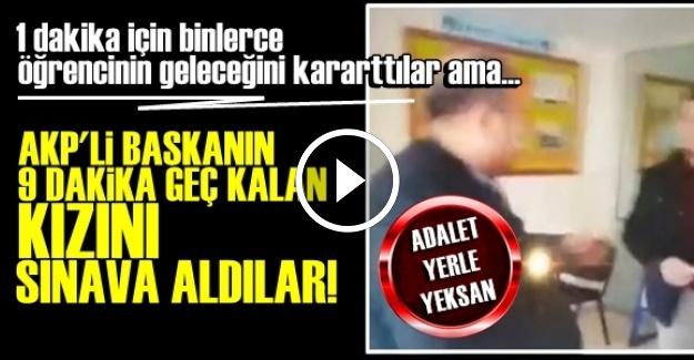 AKP'Lİ BAŞKANA EYVALLAH...