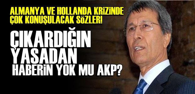 'O YASAYI SEN ÇIKARDIN AKP...'