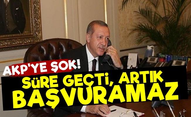 AKP'ye Başvuru Şoku!..