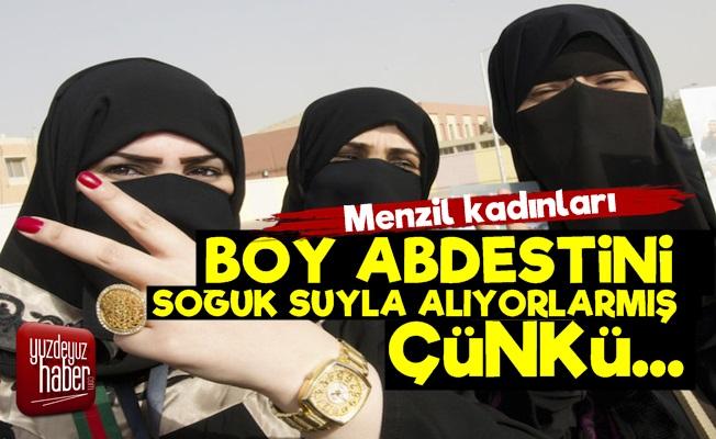 Menzil Kadınlarına Soğuk Sulu Boy Abdesti!