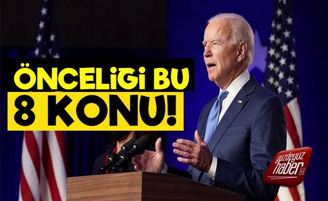 Joe Biden'ın El Atacağı İlk 8 Konu Belli Oldu!