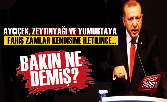 Erdoğan Ayçiçek Yağı Zammı İçin Bakın Ne Demiş?