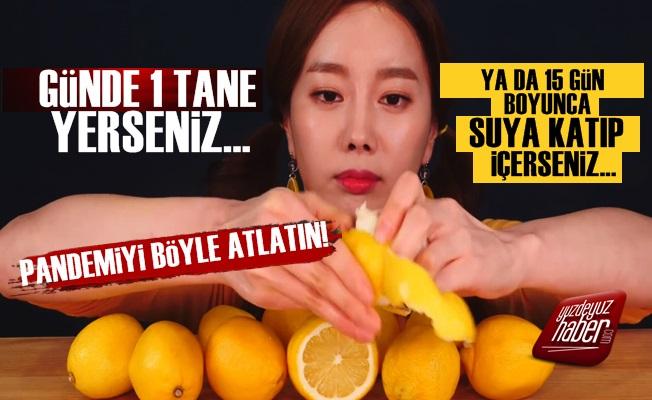 Günde 1 Limon Yemek...
