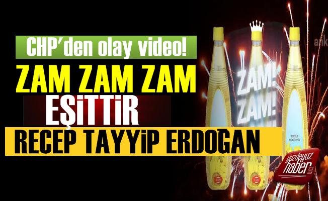 'Zam, Zam, Zam Eşittir Recep Tayyip Erdoğan'