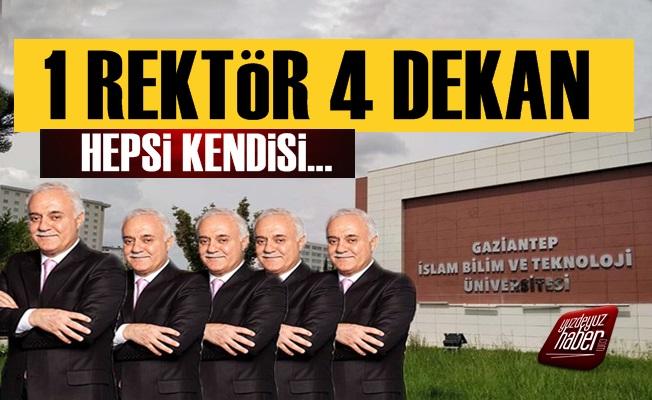 1 Rektör 4 Dekan; Nihat Hatipoğlu