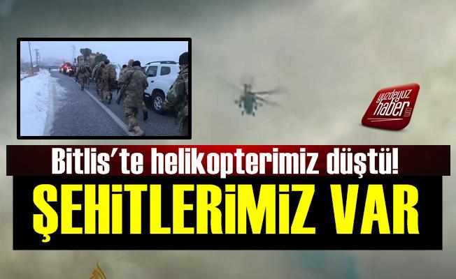 Bitlis'te Helikopter Faciası: 9 Şehit!