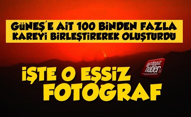 100 Bin Fazla Kareyi Birleştirdi, Güneşi Fotoğrafladı