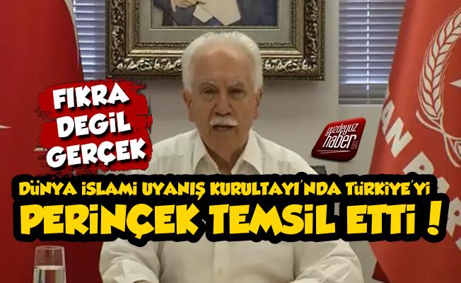 İslami Uyanış Kurultayı'nda Türkiye'yİ Doğu Perinçek Temsil Etti