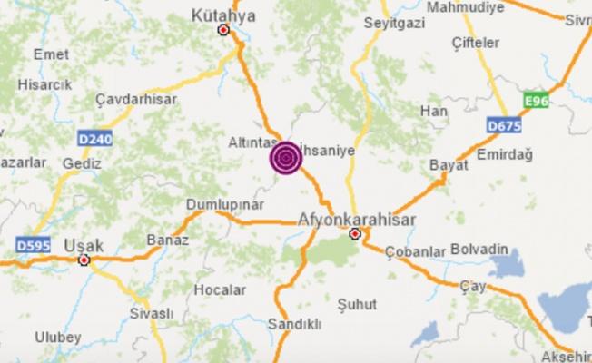 Kütahya'da 5. Büyüklüğünde Deprem