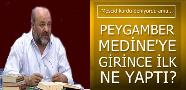 İLK İŞİ MESCİD KURMAK DEĞİLDİ...