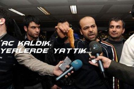İŞÇİLERDEN 'EKMEKLİ' PROTESTO