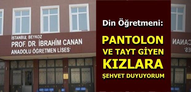 PANTOLONLU KIZ ÖĞRENCİYİ AYAĞA KALDIRDI VE...