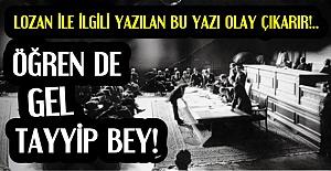 'BİR DE KONUŞUYORSUN TAYYİP BEY'