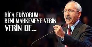 'RİCA EDİYORUM BENİ MAHKEMEYE VERİN...'
