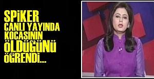 SPİKERE CANLI YAYINDA KARA HABER!