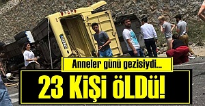 OTOBÜS 2 OTOMOBİLİN ÜZERİNE DÜŞMÜŞ!