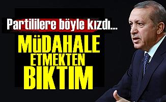 Erdoğan Partililere Fena Kızdı!