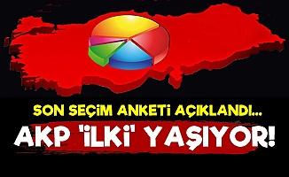 Son Ankette AKP Bir 'İlki' Yaşıyor!