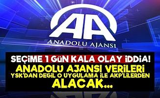 Seçime 1 Gün Kala Anadolu Ajansı İle İlgili Olay İddİa!