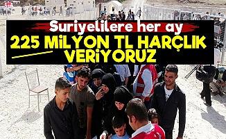 Suriyelilere Her Ay 225 Milyon TL Harçlık!