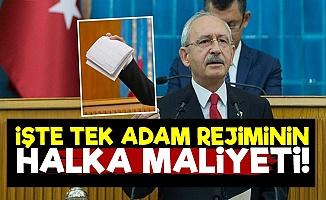 Kılıçdaroğlu Tek Adam Rejiminin Maliyetini Açıkladı!