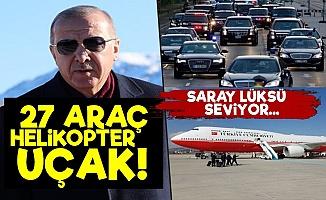 Bir Ziyarete 27 Araç, Bir Helikopter, Bir Uçak!