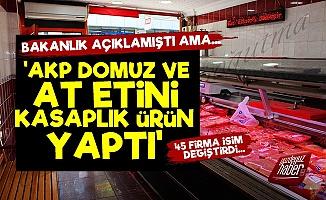 'AKP Domuz Ve At Etini Kasaplık Ürün Yaptı'