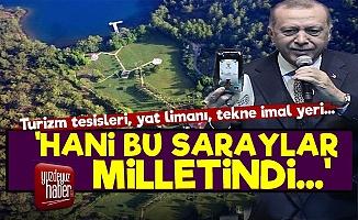 Erdoğan'ın 300 Odalı Yazlık Sarayı 'Sır' Oldu!