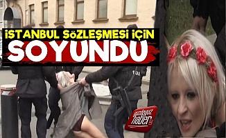 FEMEN'den İstanbul Sözleşmesi Eylemi!