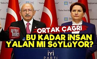 Kılıçdaroğlu Ve Akşener'den Ortak Çağrı!