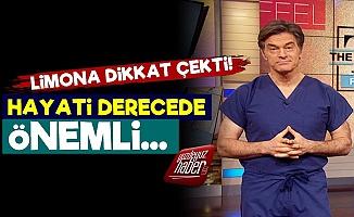 Mehmet Öz'den 'Limon' Vurgusu!
