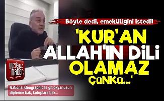 Mustafa Öztürk: Kur'an Allah'ın Dili Olamaz