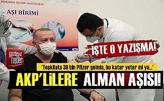 AKP Teşkilatlarına Alman Pfizer Aşısı!