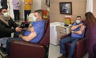 İnşaatçı Vekil 'Sağlıkçı' Kontenjanından Aşı Oldu!