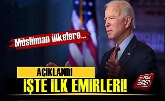 İşte Joe Biden'ın İlk Emirleri!