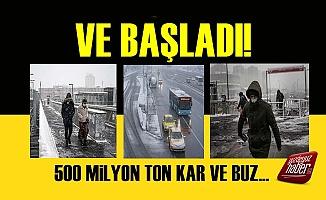 Meteoroloji Uyarmıştı, İstanbul'da Kar Başladı!