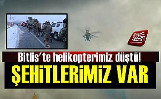 Bitlis'te Helikopter Faciası: 11 Şehit!