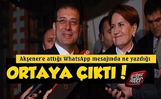 İmamoğlu'nun WhatsApp'ta Ne Yazdığı Ortaya Çıktı!