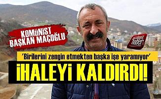Komünist Başkan İhaleti Kaldırdı, 'Helal Olsun' Dedirtti!