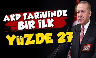 AKP Bir İlki Yaşıyor, Yüzde 27...