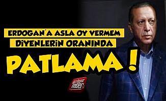 'Erdoğan'a Asla Oy Vermem' Diyenlerin Oranı Patladı