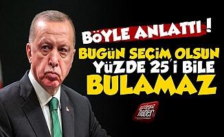 'Erdoğan Artık Yüzde 25'i Bile Bulamaz...'