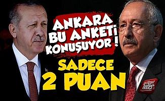 Ankara Bu Anketin Sonuçlarını Konuşuyor, Fark 2 Puan...